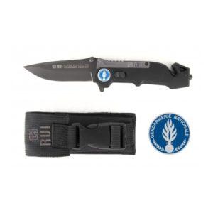 Couteau de poche RUI 19594 Gendarmerie Départementale noir
