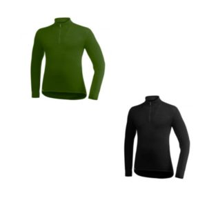 T-shirt manche longue ullfrotté 200 gr woolpower col cheminé merinos