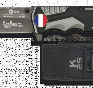 Couteau RUI Sécurité Gris/Noir. Lame 9.4 FRANCE