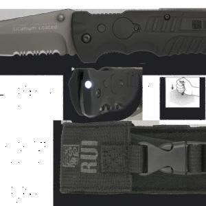 Couteau pliant RUI Noir. Titane. Lame: 9.5 cm 19588