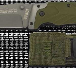 Couteau pliant RUI ARMY. Vert. Étui SPC. Lame 9 cm 19660