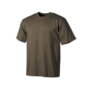 US T-Shirt, style classique, kaki, 160gr/m2