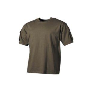 US tee-shirt, kaki, poches manches