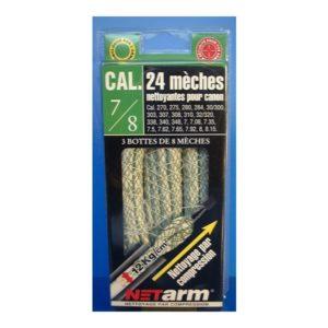 Blister de 24 mèches mèches bleues pour cal. 9 mm