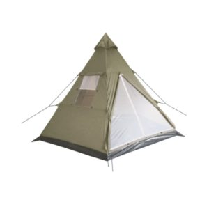 "Tente indienne, ""Tipi"", kaki, mât central, 290x270x225 cm"