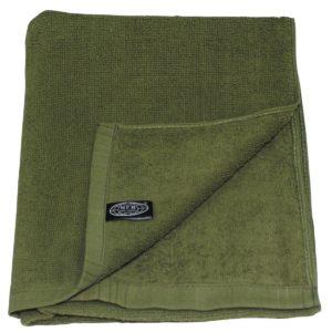 Serviette éponge, vert, 110 x 50 cm