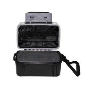 boîte plastique, imperméable, filet sac, noir