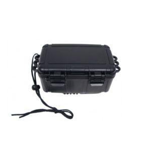 boîte plastique, imperméable, 17x11,5x8 cm, noir