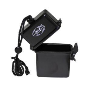 boîte plastique, imperméable, 7 x 2,5 x 11 cm, noir