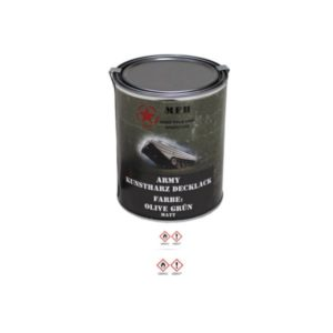 Pot de peinture KAKI, mat, 1 litre
