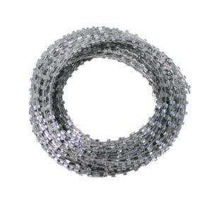 fil de fer barbelé, métal, 50 m, diamètre rouleau 30 cm type concertina