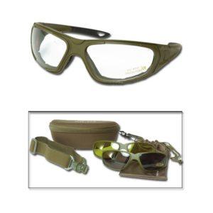 Coffret lunettes tactique 3en 1 kaki mil tec 15615901