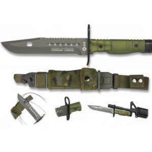 Couteau K25. Baïonnette. Vert. Étui SPC RUI K 25 32068