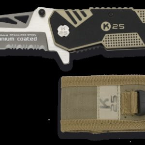 Couteau pliant K25. Plaquettes G10. FOS. Lame 8.6 19944 RUI