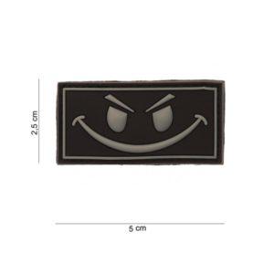 """PATCH 3D PVC """" EVIL SMILEY"""" AVEC VELCRO"""
