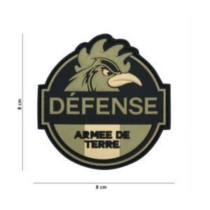 PATCH 3D PVC DEFENSE ARMEE DE TERRE VERT