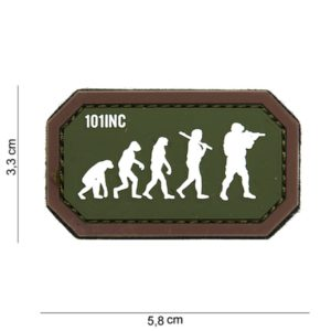 "PATCH 3D PVC "" AIRSOFT EVOLUTION "" VERT/MARRON"