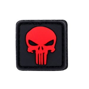 PATCH PVC PUNISHER ROUGE