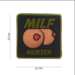 PATCH 3D PVC : MILF HUNTER (VERT)