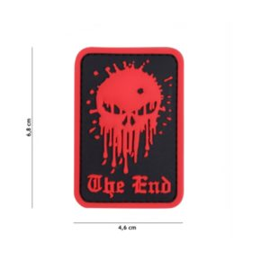 PATCH 3D PVC SKULL THE END ROUGE