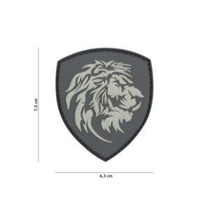 PATCH 3D PVC DUTCH LION GRIS