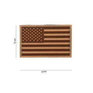 PATCH : 3D PVC , DRAPEAU USA DESERT