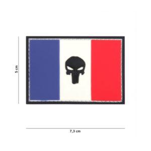 PATCH 3D PVC PUNISHER FRANCE FLAG