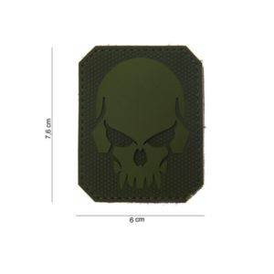 "PATCH 3D PVC "" PIRATE SKULL "" VERT"