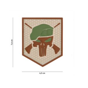 PATCH 3D PVC COMMANDO PUNISHER COYOTE