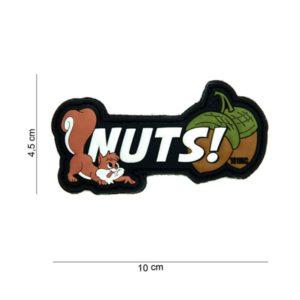 """PATCH 3D PVC """" NUTS """" BLANC"""