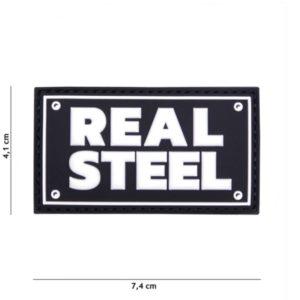 PATCH 3D PVC REAL STEEL NOIR