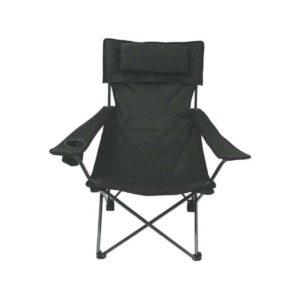 chaise pliante, kaki, dossier et appuie-bras