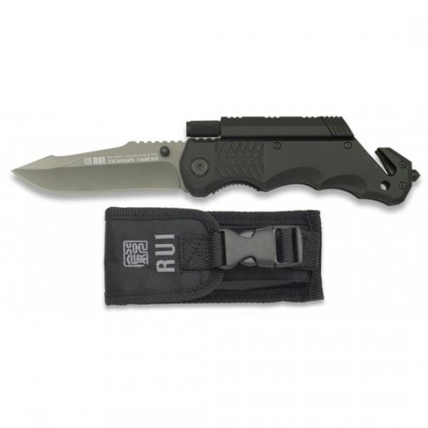 Couteau de poche silex-torche RUI 19541 noir