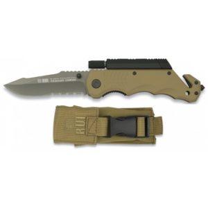 Couteau de poche silex-torche RUI 19540 coyote