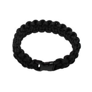 """bracelet, """"Paracord"""" , noir, largeur 1,9 cm"""