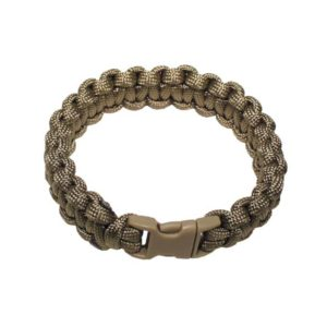 "bracelet, ""Paracord"", coyote tan, largeur 1,9 cm"