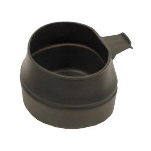 "gobelet pliable, ""Fold-A-Cup"", kaki, 200 ml, plastique"