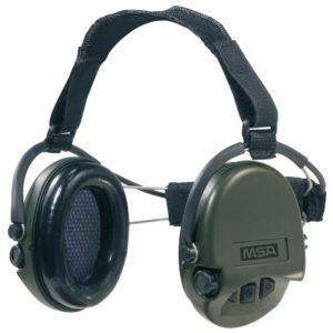Casque anti-bruit MSA Suprême Pro serre-nuque vert OD coussinets mousse