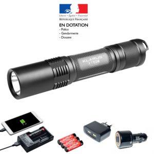 Pack lampe tactique KLARUS rechargeable XT2C LED - 1100 Lumens avec ses accessoires