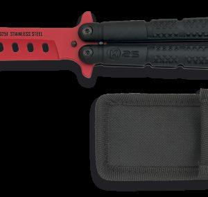 Couteau papillon entraînement K25. ROUGE. 10 cm K 25