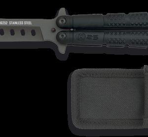 Couteau papillon entraînement K25. Revêtu noir