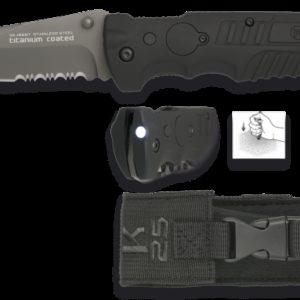 Couteau pliant K25. Noir. Lame: 9.5 cm K 25 19587