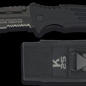 Couteau BLACK COATED. Lame 9 cm K25 19763
