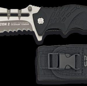 Couteau pliant K25 SFL noir/rouge. Lame 10.4 cm K25 19937