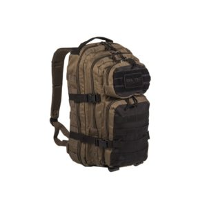 MIL-TEC MOLLE US ASSAULT PACK GRAND sable et noir