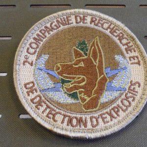 PATCH BRODE K9 132 ème BCAT 2 ème CRDE -2ème COMPAGNIE RECHERCHE DETECTION EXPLO