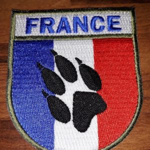 PATCH BRODE K9 FRANCE PATTE DE CHIEN-CYNO- 132 ème BCAT