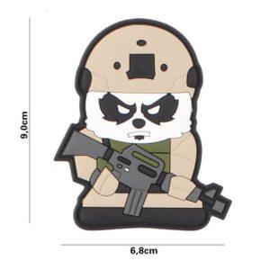 PATCH 3D PVC : TACTICAL PANDA