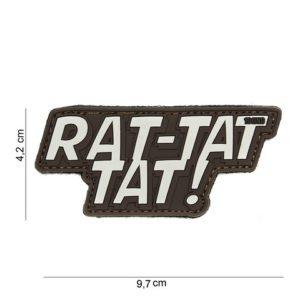 """PATCH 3D PVC """" RAT-TAT TAT """" MARRON"""