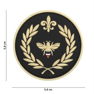 PATCH 3D PVC NAPOLEON BEE NOIR